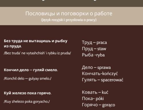 Język rosyjski i przysłowia o pracy